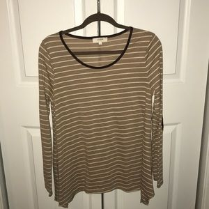 Long sleeve tee with elbow patches